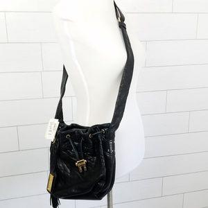 Badgley Mischka Bags - Badgley Mischka Black Leather Crossbody Purse